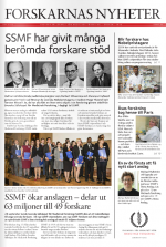 SSMF, Forskarnas Nyheter 2014-15