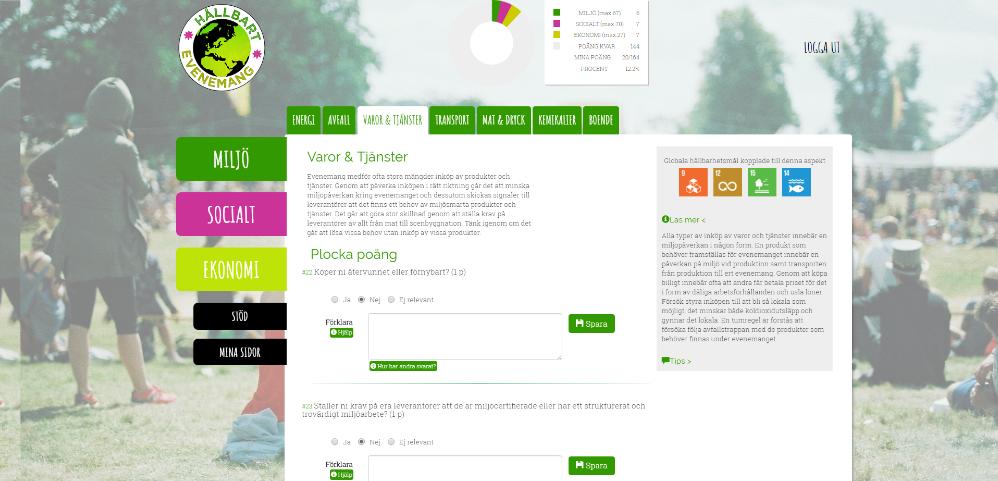 Snart lanseras ett nytt verktyg för arrangörer av evenemang, Hållbart evenemang