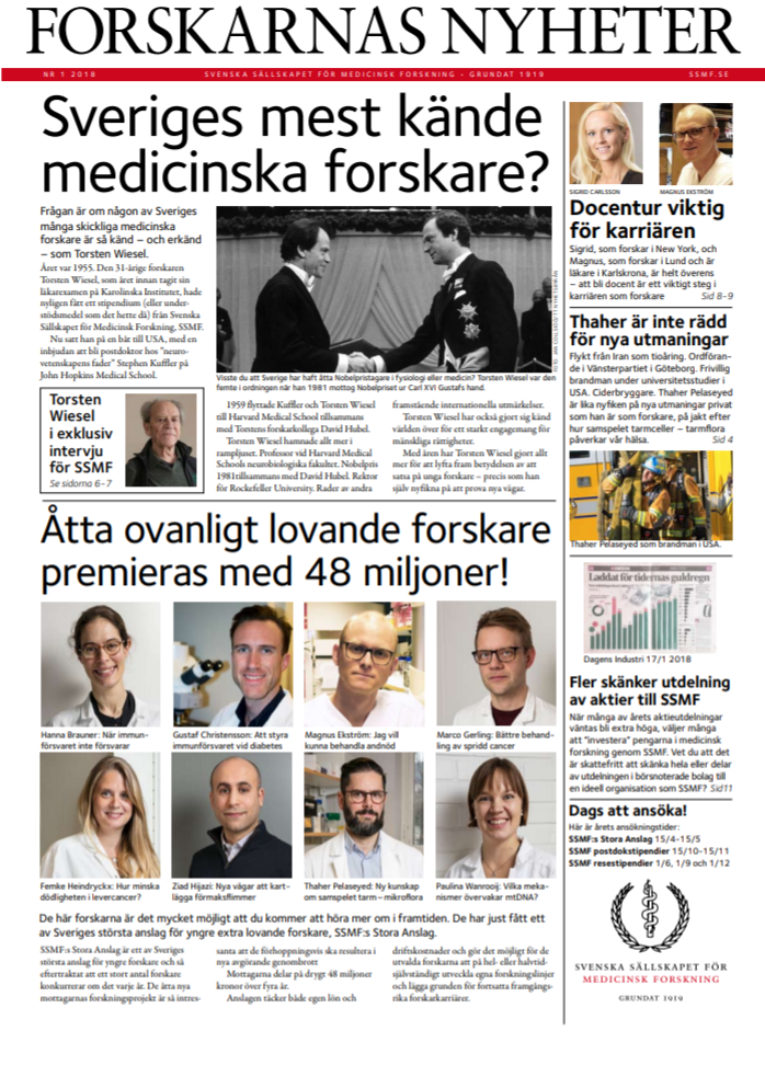SSMF, Forskarnas Nyheter nr 1 2018