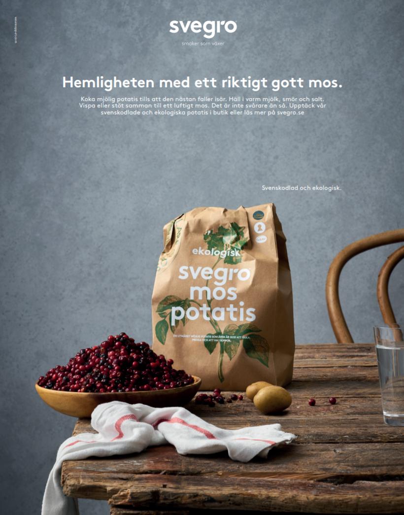 Ekologisk och svenskodlad potatis från Svegro.