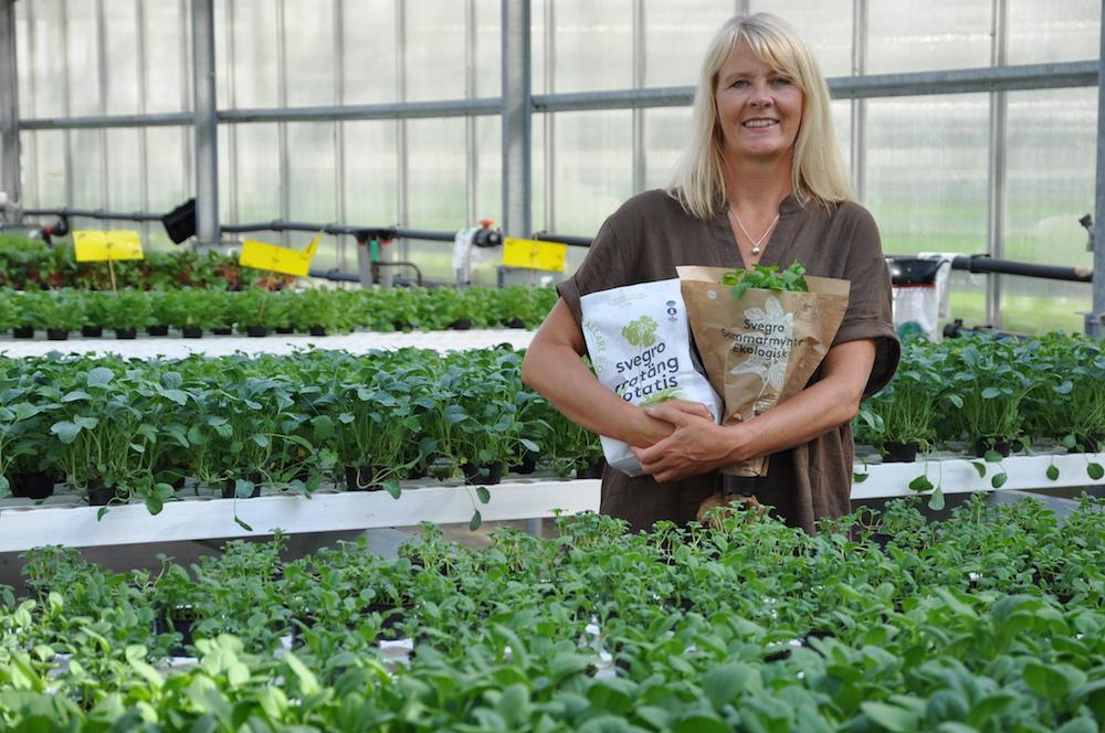 Helena Olin, produktutvecklare och marknadsförare, Svegro. Bild från Fri Köpenskap den 6 september 2018. Foto: Siw Kejonen