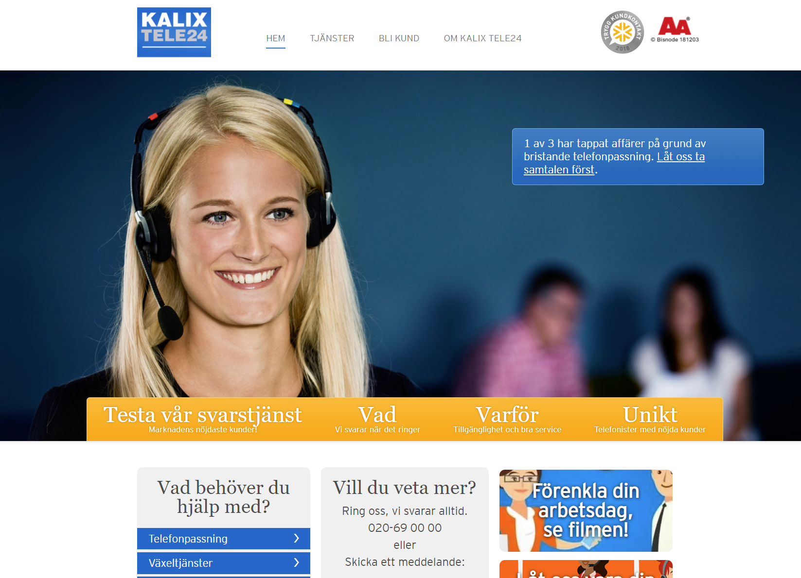 Skolverket ökar tillgängligheten med Kalix Tele24