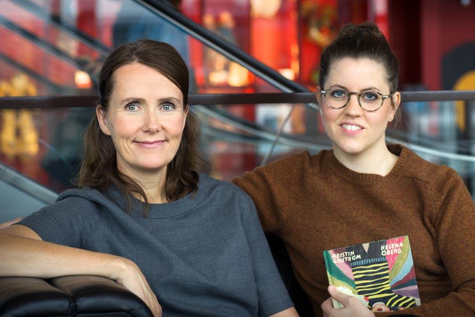 Helena Öberg har hyllats för sin senaste bok, Kattvinden. Boken är illustrerad av Kristina Lidström. Foto: Mats Lundqvist