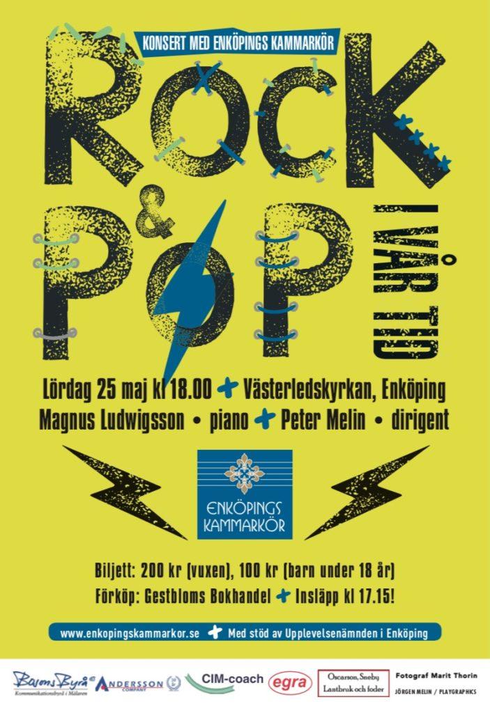 Vårkonsert med Enköpings Kammarkör. Affisch för vårkonserten, som äger rum i Västerledskyrkan i Enköping, lördagen den 25 maj, från körens hemsida, enkopingskammarkor.se
