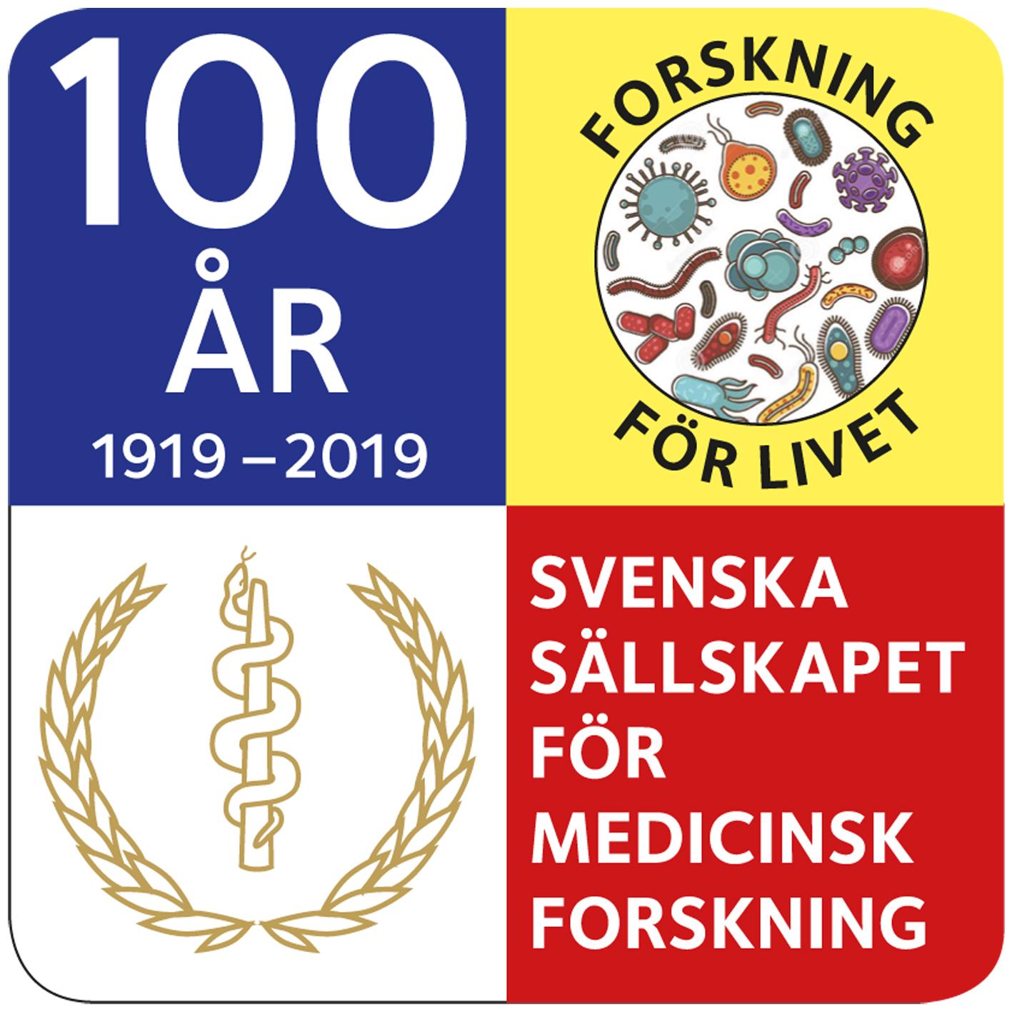 Grattis SSMF till 100årsjubileet idag! Jubileumslogga, framtagen av Garenbergs Konsult
