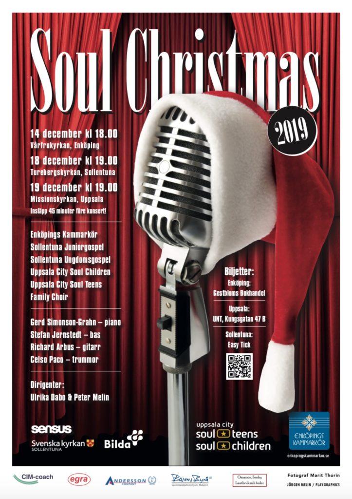Julturné med Enköpings Kammarkör. Affisch för Enköpings Kammarkörs julkonserter den 14 - 19 december, från körens hemsida, enkopingskammarkor.se